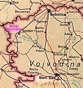 Sombor Mapa Srbije Superjoden